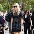 Maria Sharapova arrive au jardin des Tuileries pour assister au défilé Valentino (collection prêt-à-porter printemps-été 2016). Paris le 6 octobre 2015.