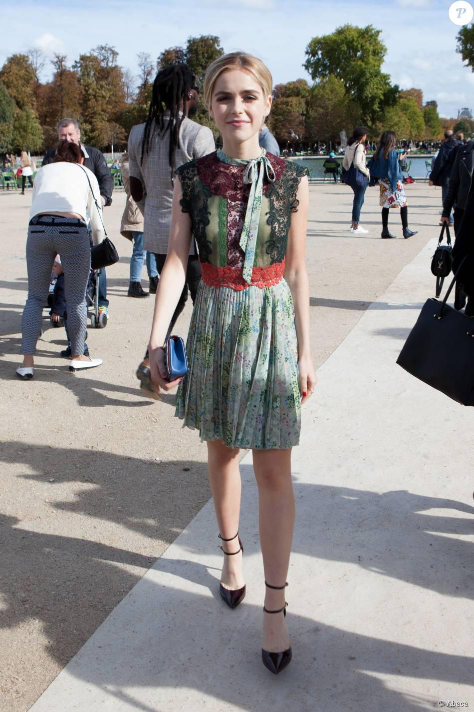 Kiernan Shipka attending Valentino's Spring-Summer 2016 ...