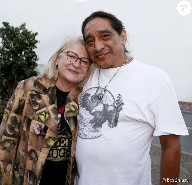 Josiane Balasko (présidente du jury) et son mari George Aguilar - 2e édition du Festival International du Film de Saint-Jean-de-Luz, le 8 octobre 2015
