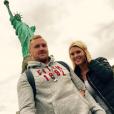 Amélie Neten et son amoureux Philippe Leonard (ex-footballeur) en vacances à New York. Septembre-octobre2015.