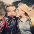 Amélie Neten et son amoureux Philippe Leonard (ex-footballeur) en vacances à New York. Octobre 2015.