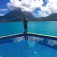 Justin Bieber en vacances à Bora Bora / photo postée sur le compte Instagram du chanteur.