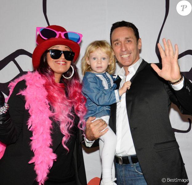 """La chanteuse Lââm, Daniel Ducruet et sa fille Linoué ( fille qu""""il a eu avec sa nouvelle épouse Kelly) - 22e édition du gala """"Faire Face"""" à l'Opéra du Grand Avignon, à Avignon, le 10 octobre 2015."""
