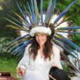 La chanteuse Natasha St Pier tourne le clip de Tous les Acadiens à Draveil le 3 juin 2015
