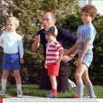 Pierre Trudeau et ses trois fils Sacha, Michel, et Justin - Images d'archives