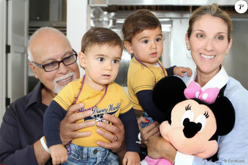 Celine Dion Rene Angelil Et Leurs Fils Nelson Et Eddy Lors Du 1er