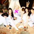 Kylie Jenner, Kourtney Kardashian, Joyce Bonelli, Kendall Jenner et Kim Kardashian assistent à la baby-shower de Kim Kardashian dans la villa du couple Azoff à Beverly Hills. Le 25 octobre 2015.