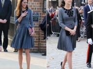 Kate Middleton : Trois ans et deux enfants après, la même robe plissée...