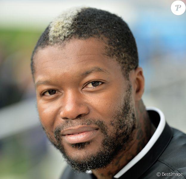 Djibril Cissé lors des Journées Nationales de l'arbitrage au stade Jean Bouin le 21 octobre 2015 à Paris