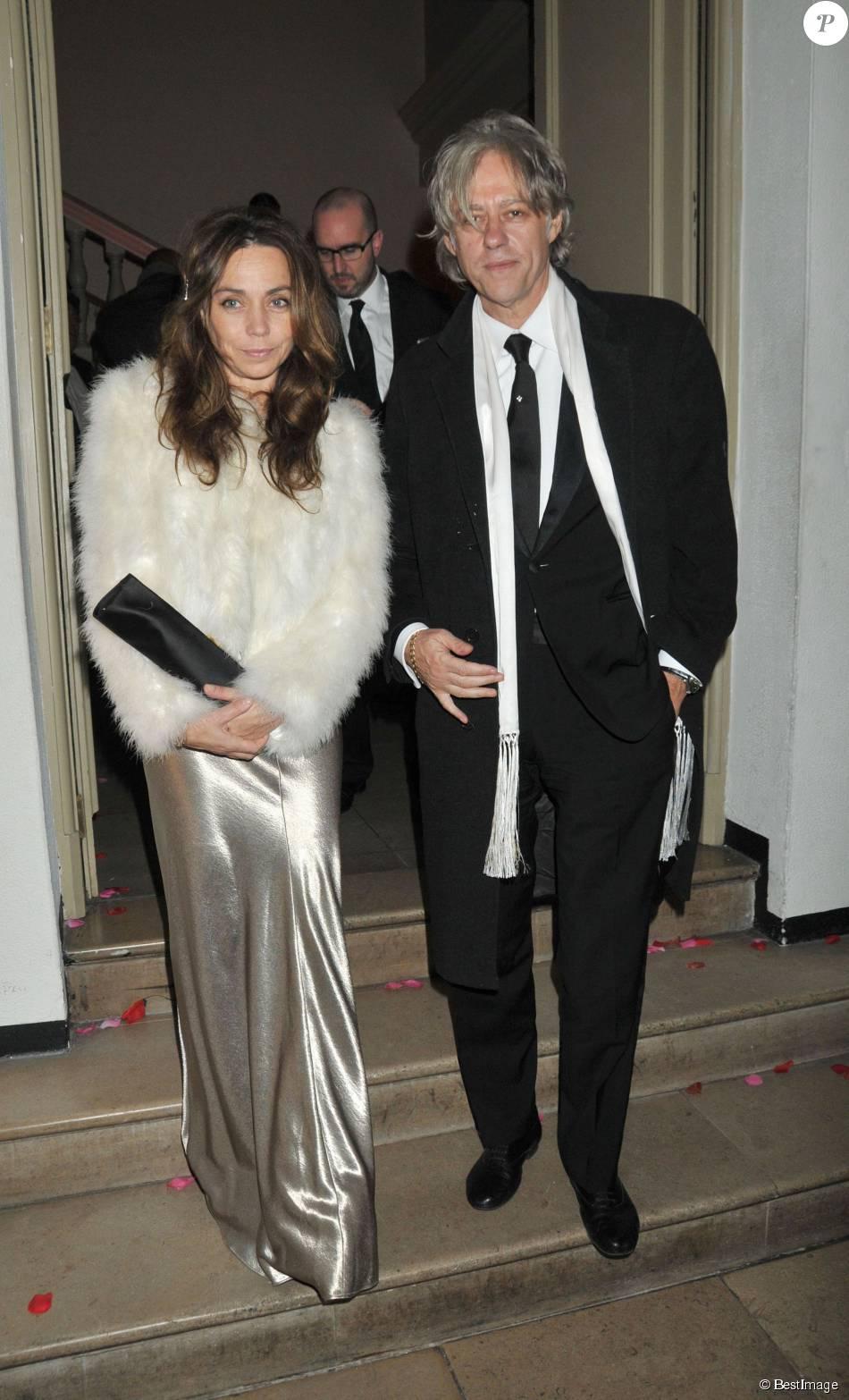 Bob Geldof et Jeanne Marine à la soirée de Gala Royal Rajasthan à Londres, le 9 novembre 2009
