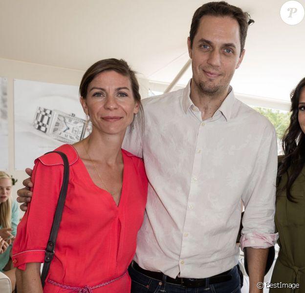 Exclusif - Grand Corps Malade (Fabien Marsaud) et sa femme Julia et Tony Parker et sa femme Axelle Francine - People lors du Longines Paris Eiffel Jumping au Champ-de-Mars à Paris, le 5 juillet 2015.