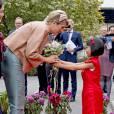 La reine Maxima des Pays-Bas lors du premier jour de sa visite officielle en Chine avec le roi Willem-Alexander, à Pekin le 25 octobre 2015. Souffrant de fièvre et de maux de dos, la reine ignorait encore qu'elle était atteinte d'une néphrite...