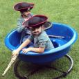 Eddy et Neslon, les enfants de Céline Dion déguisés pour Halloween 2015