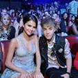 Selena Gomez et Justin Bieber lors des Teen Choice Awards 2011, Los Angeles, le 7 août 2011
