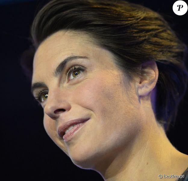 Alessandra Sublet au Champ de Mars à Paris le 6 décembre 2014.