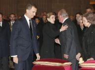 Letizia et Felipe: Emotion avec Juan Carlos et Sofia aux obsèques de Don Carlos