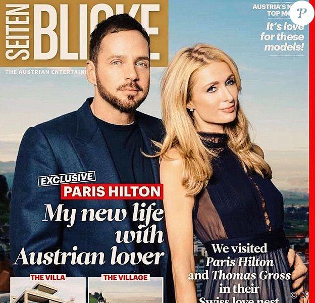 Paris Hilton et son amoureux Thomas Gross font la couverture d'un magazine autrichien.