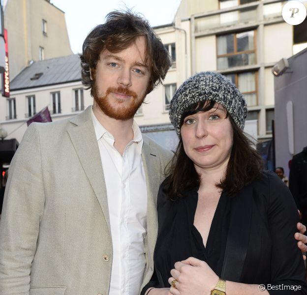 """Gaël Giraudeau et sa compagne Anne Auffret - Dernière du spectacle """"Les Franglaises"""" au théâtre Bobino à Paris, le 27 mai 2015."""