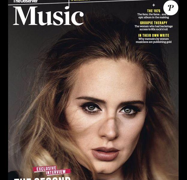 Adele en couverture de The Guardian's Observer Magazine