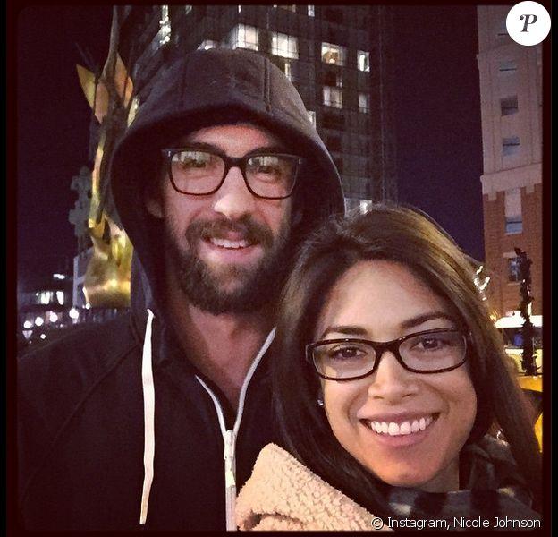 Michael Phelps et Nicole Johnson - Photo publiée le 23 novembre 2014