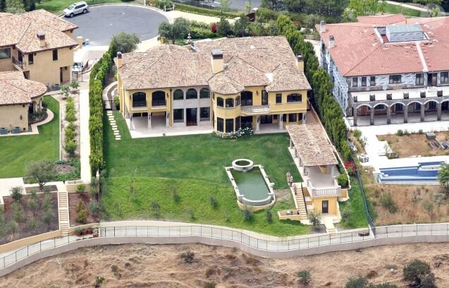 La villa de Kim Kardashian et Kanye West dans le quartier de Bel Air. Mai 2013.