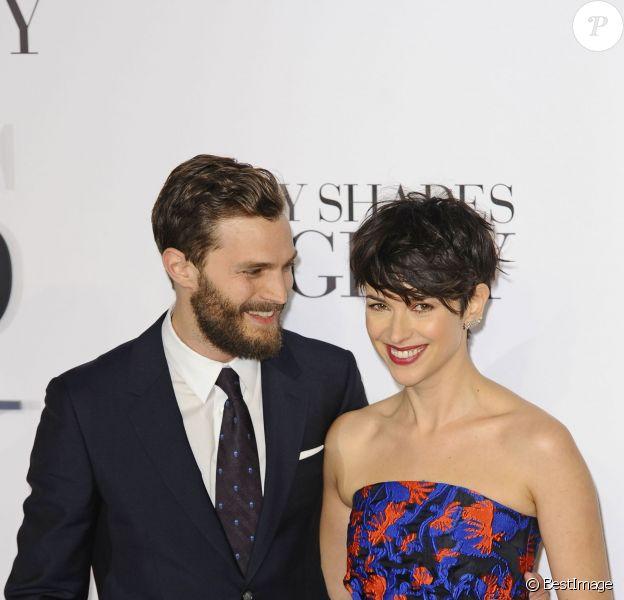 """Jamie Dornan et sa femme Amelia Warner - Avant-première du film """"50 nuances de Grey"""" à Londres, le 12 février 2015."""