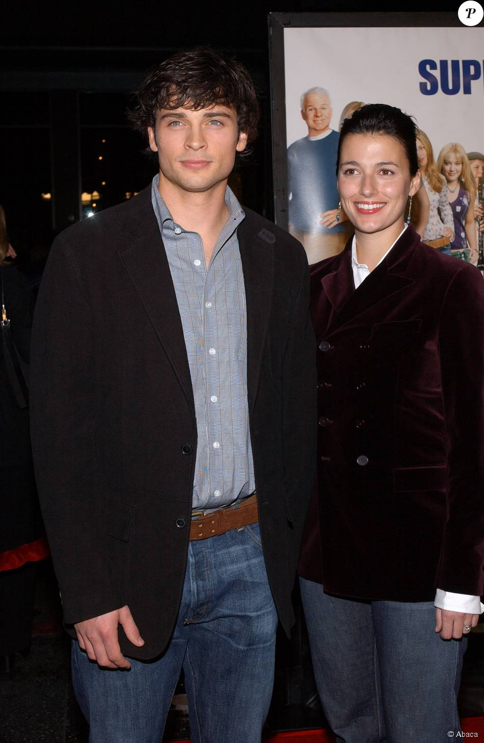 Tom Welling et son épouse Jamie White à Los Angeles, le 14 décembre 2003.