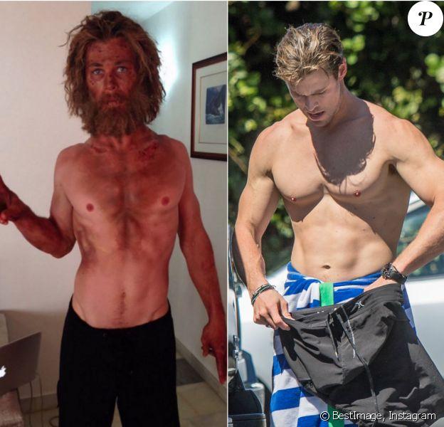 Chris Hemsworth dévoile le résultat de son régime pour Au coeur de l'océan. Une rupture totale avec les muscles saillants de l'acteur, capturés le 14 septembre 2015.