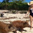 Alyssa Milano en vacances aux Bahamas / photo postée sur Instagram au mois de novembre 2015.