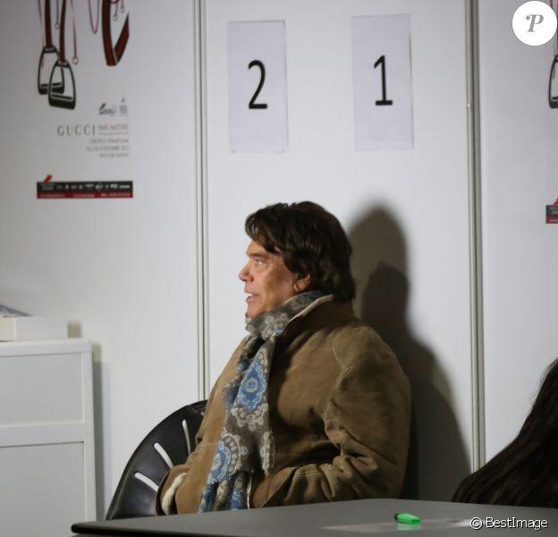 Bernard Tapie au Gucci Paris Masters à Villepinte le 7 décembre 2013