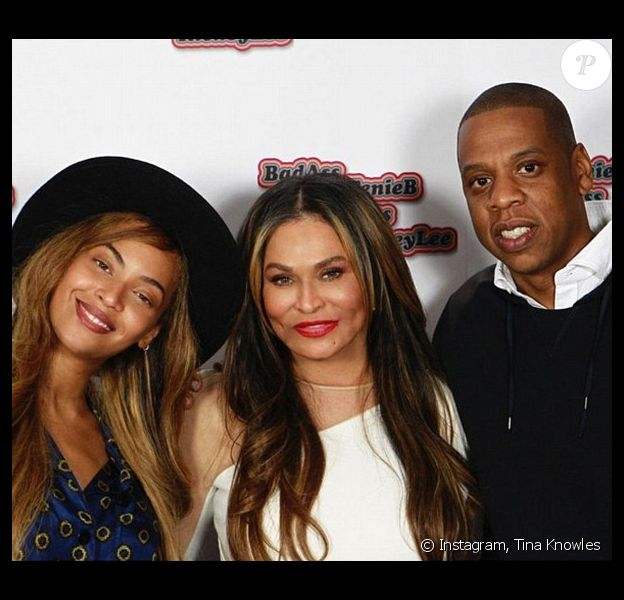 Photo de Tina Knowles, sa fille Beyoncé et son gendre Jay Z publiée le 4 décembre 2015.