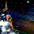 Cécile et Roman, lors de la finale d'Incroyable Talent 2015 sur M6, le mardi 8 décembre 2015.