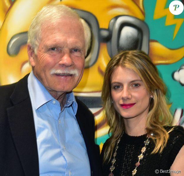 """Exclusif - Ted Turner et Mélanie Laurent - """"Cocktail Des Visionnaires"""" organisé par Ted Turner et sa fondation """"Captain Planet"""" pendant la COP21 à Paris le 9 décembre 2015."""