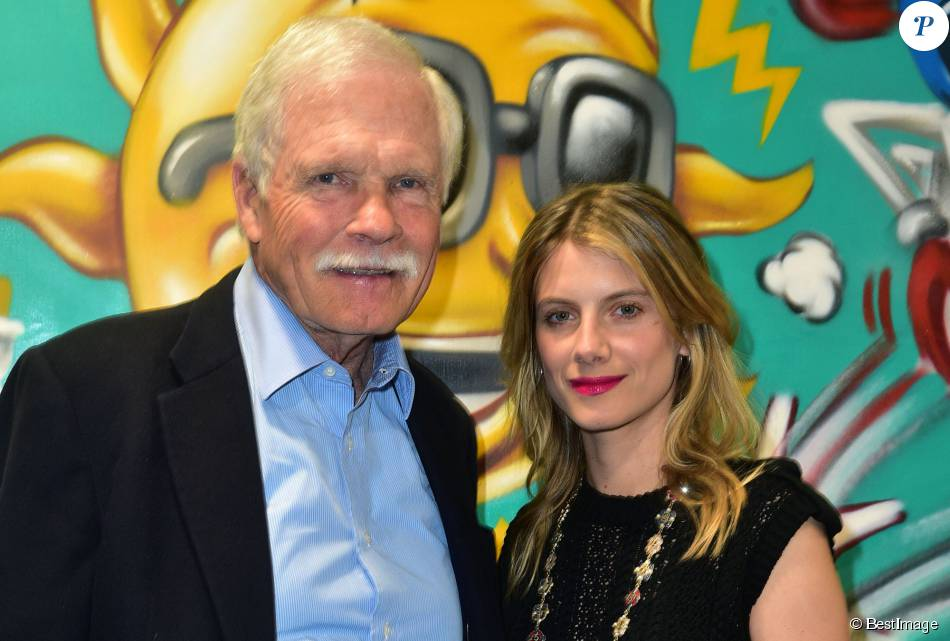 "Exclusif - Ted Turner et Mélanie Laurent - ""Cocktail Des Visionnaires"" organisé par Ted Turner et sa fondation ""Captain Planet"" pendant la COP21 à Paris le 9 décembre 2015."