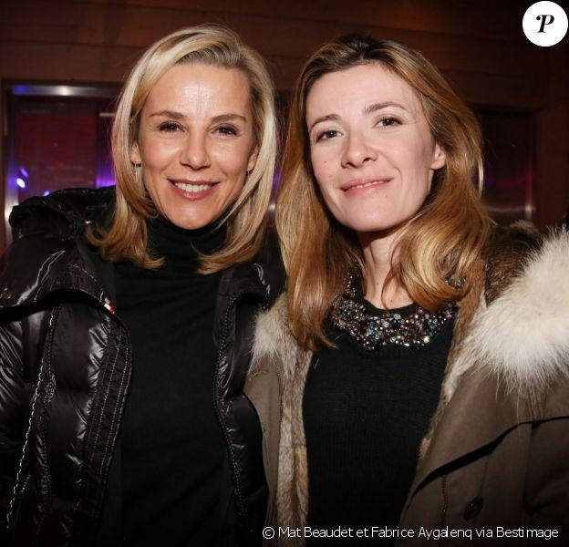 Exclusif - Laurence Ferrari et Elisabeth Bost lors des Trophées des Femmes en Or 2015 à Avoriaz, le 12 décembre 2015.
