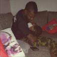 Djibril Cissé et son fils Gabriel - Photo publiée le 10 décembre 2015