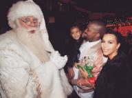 Kim Kardashian : Des étoiles plein les yeux, North West rencontre le Père Noël