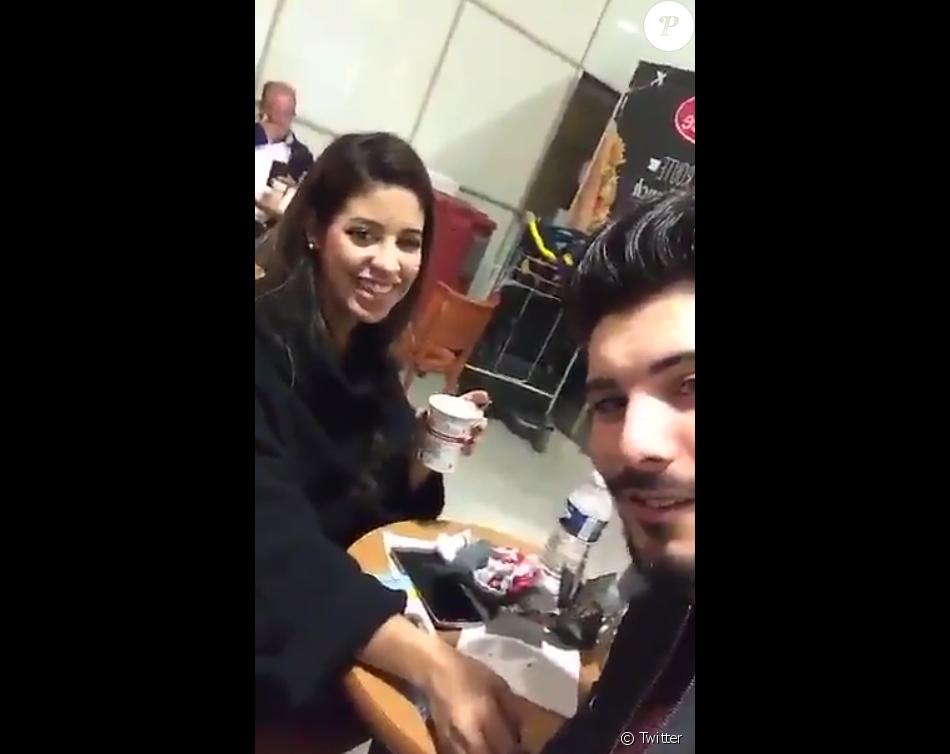 Alia et Ali s'envolent pour un voyage romantique à Milan. Décembre 2015.