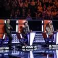 Les coachs de The Voice 2016 survoltés lors de la première salve d'auditions à l'aveugle, le 9 novembre 2015.