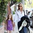 Helen Hunt avec sa fille Makena Lei àLos Angeles, le 9 juillet 2011.
