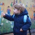 Le prince George lors de sa première rentrée des classes le 6 janvier 2016.