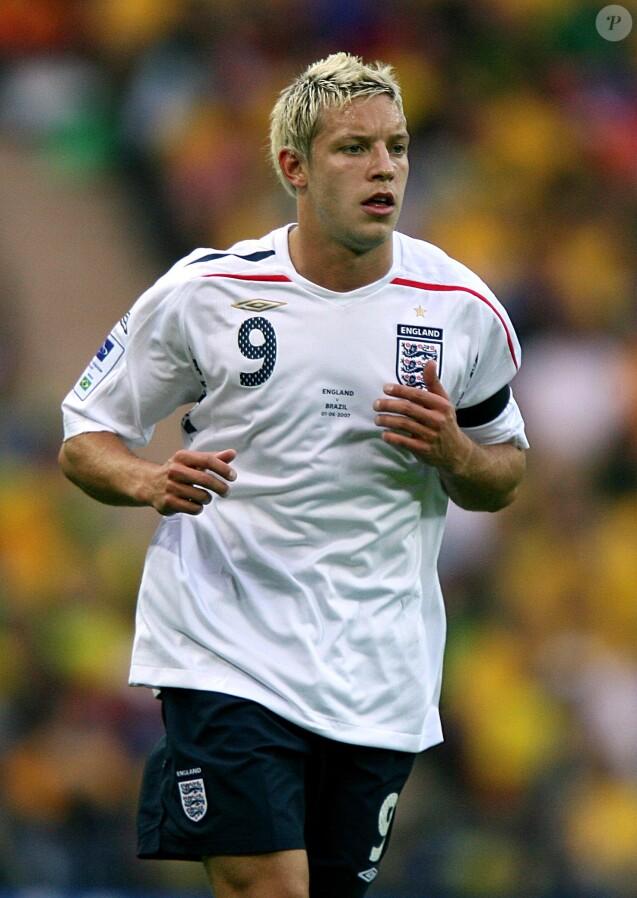 Alan Smith lors de la rencontre Angleterre - Brésil, au stade Wembley de Londres, le 1er juin 2007