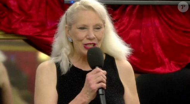 """Angie Bowie dans """"Celebrity Big Brother"""" sur Channel 5 au Royaume-Uni, épisode du dimanche 10 janvier 2015."""