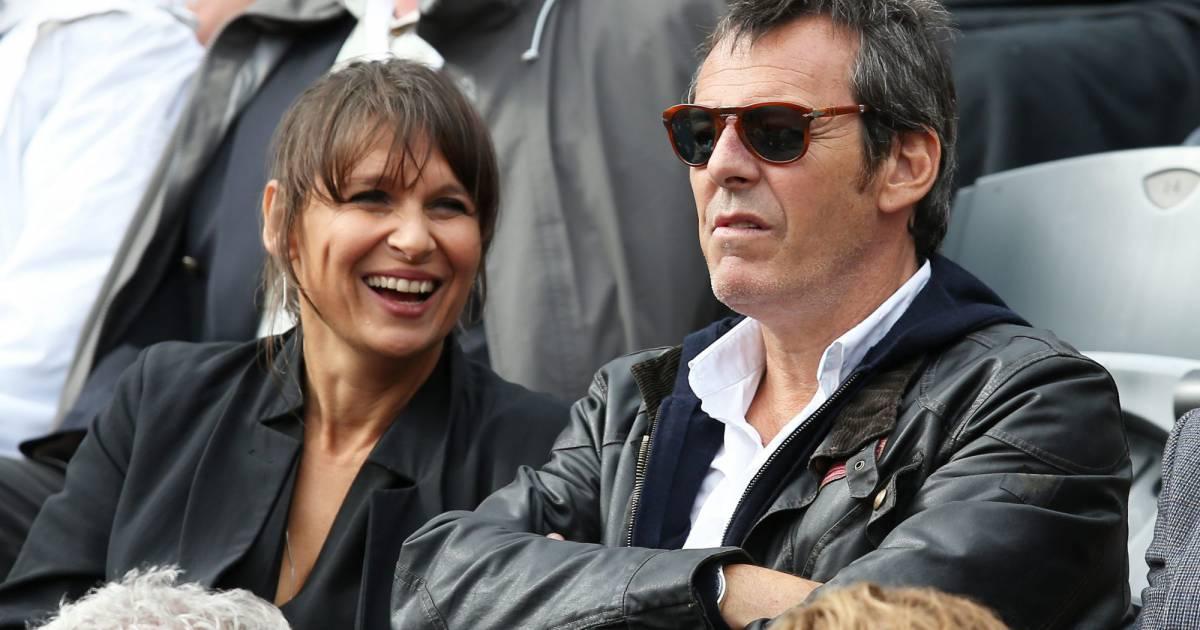 Jean luc reichmann et sa femme nathalie people dans les tribunes des internationaux de france - Jean francois balmer et sa femme ...