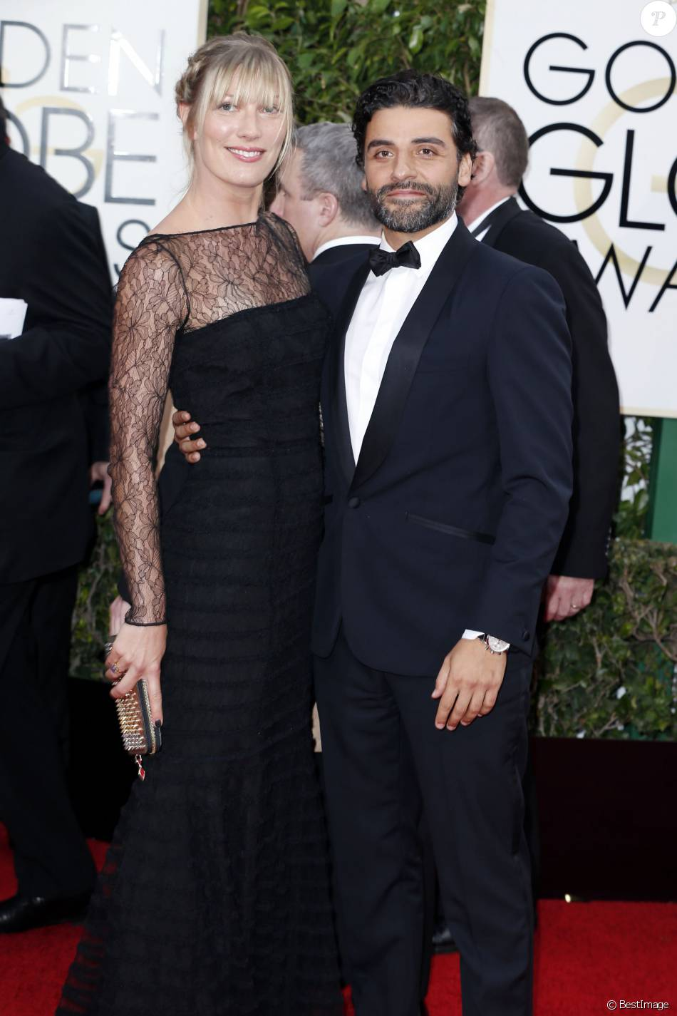 Oscar Isaac et sa compagne Elvira Lind - La 73e cérémonie annuelle des Golden Globe Awards à Beverly Hills, le 10 janvier 2016. © Olivier Borde/Bestimage