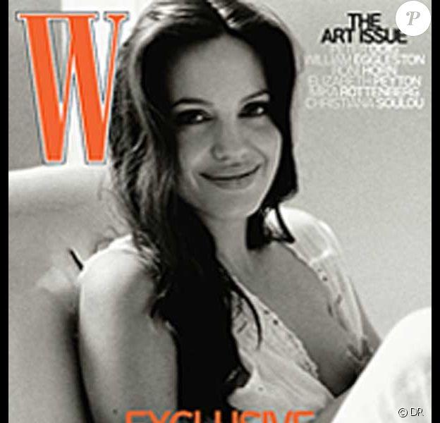Angelina Jolie en couverture de W