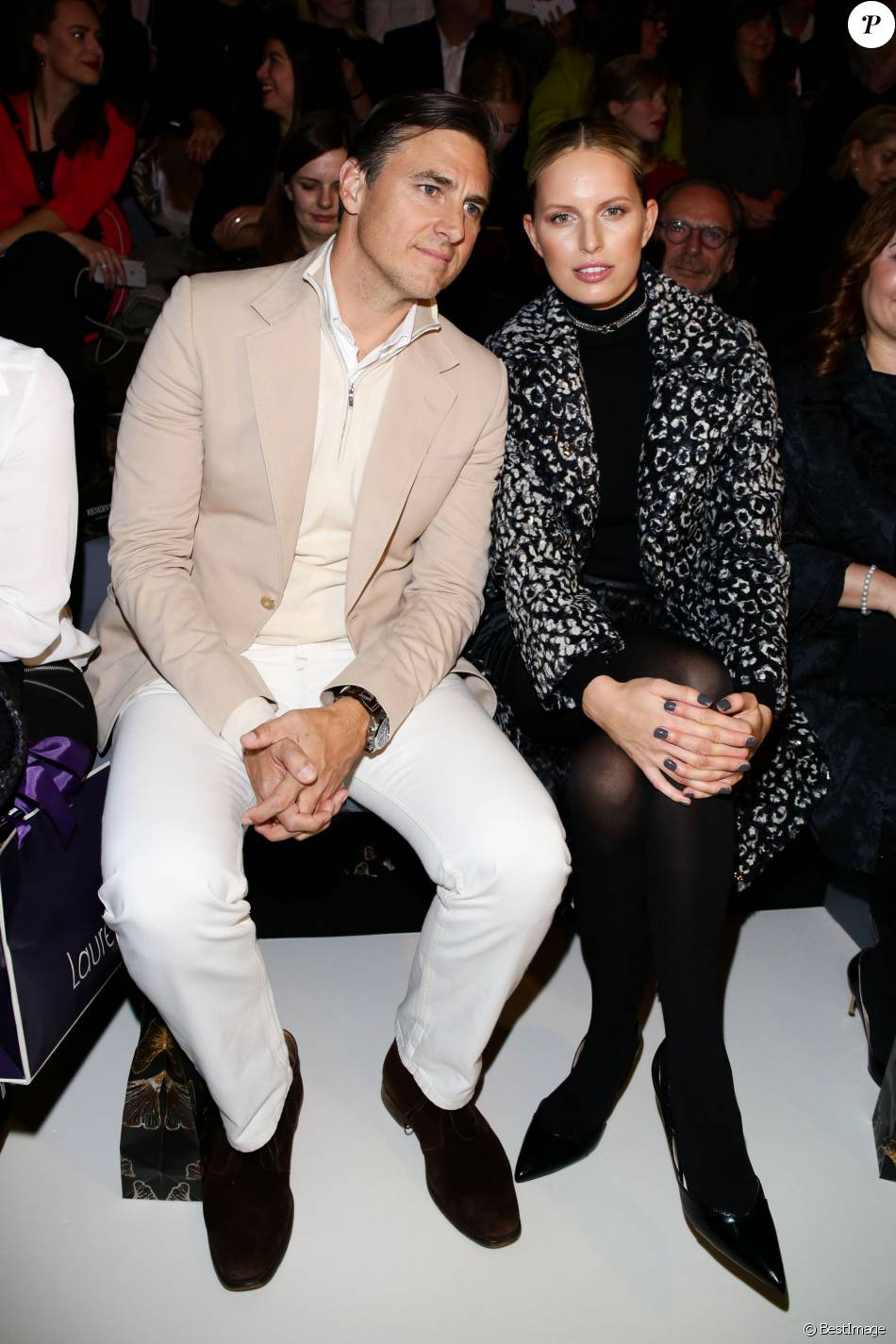 Karolina Kurkova et son mari Archie Drury assistent au défilé de mode Guido Maria Kretschmer Berlin à la Fashion Week de Berlin. Le 20 janvier 2016.