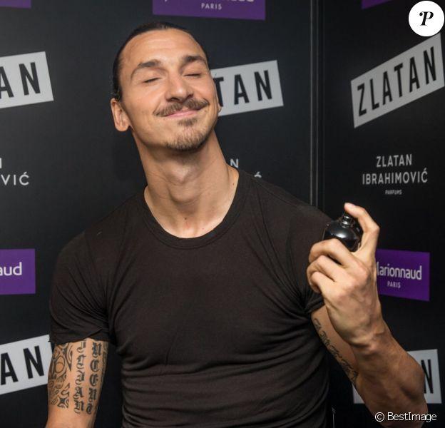Zlatan Ibrahimovic lance chez Marionnaud son premier parfum éponyme, à Paris le 27 octobre 2015 © Cyril Moreau