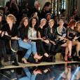 Sabrina Ouazani, Hélène de Fougerolles et Mélanie Thierry au défilé haute couture Zuhair Murad collection printemps-été 2016 à l'hôtel Potocki à Paris, le 27 janvier 2016. ©Rachid Bellak/Bestimage