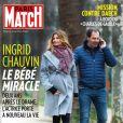 Ingrid Chauvin enceinte en couverture de Paris Match. En kiosques le 4 février 2016.